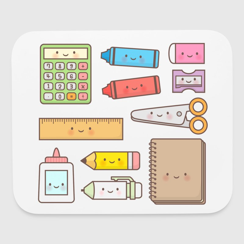 Kawaii School Supplies Other - Mouse pad Horizontal