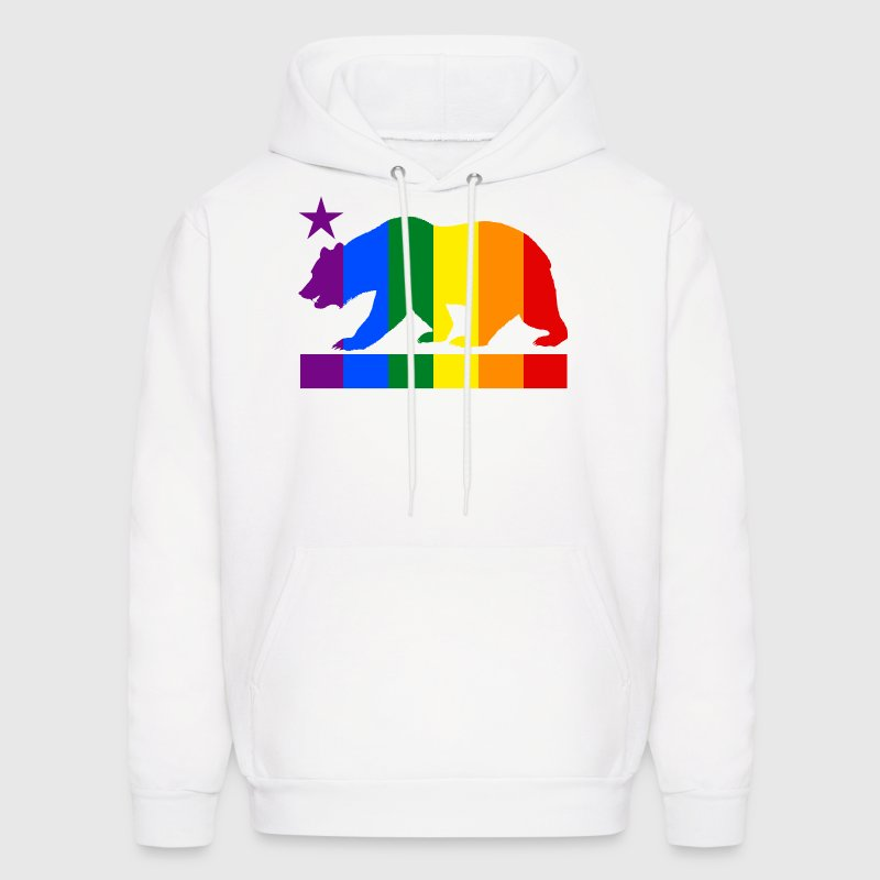 California Pride Bear - Men's Hoodie