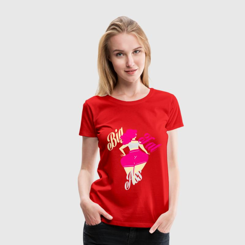 big fat ass girl Women's T-Shirts - Women's Premium T-Shirt