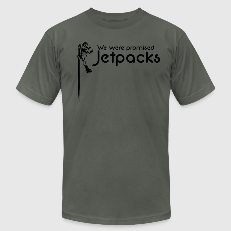 We were promised Jetpacks - Men's T-Shirt by American Apparel