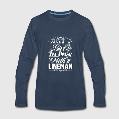 In love with a Lineman - Men's Premium Long Sleeve T-Shirt