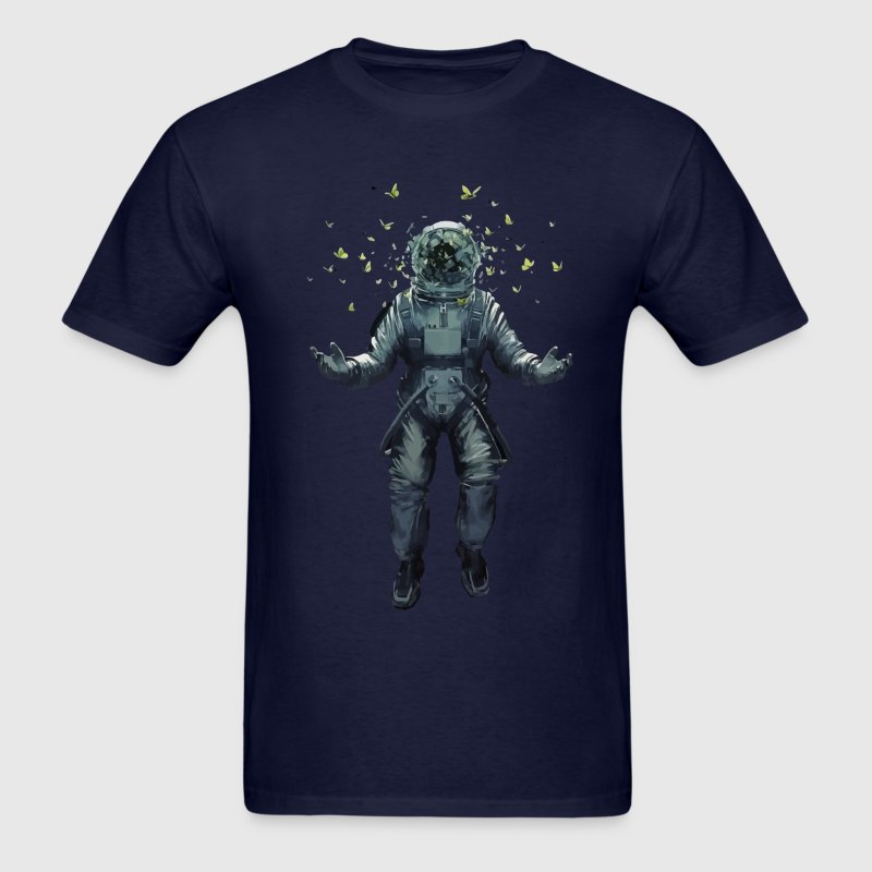 Cool astronaut and butterflies t shirt - Men's T-Shirt