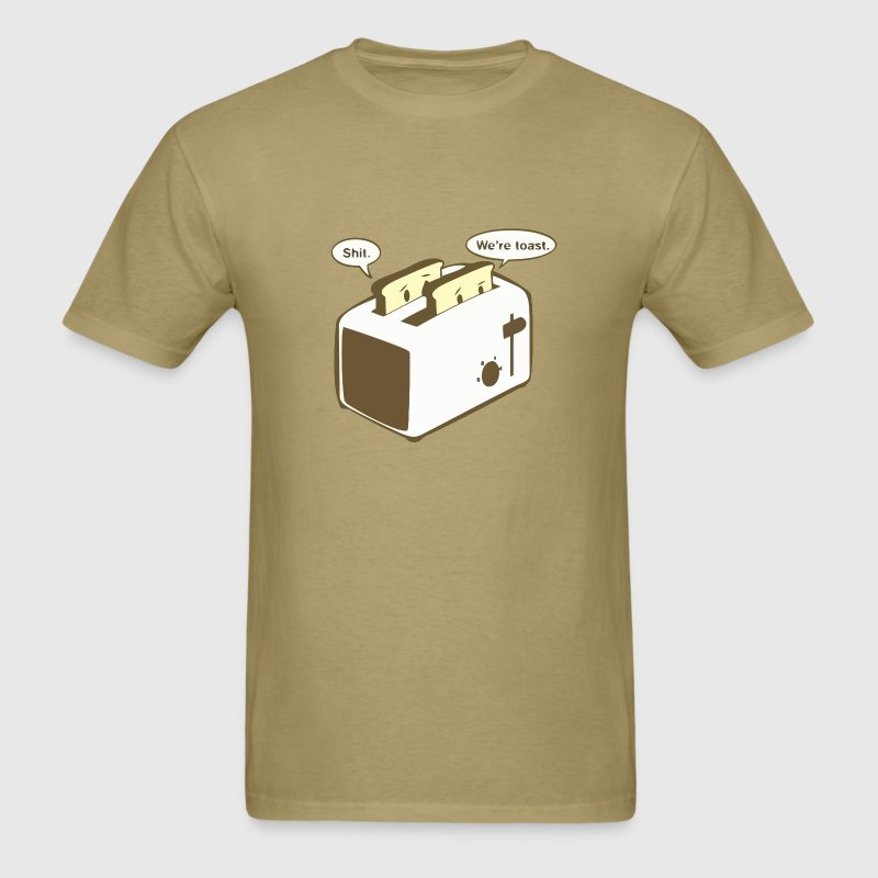 Funny toaster joke t shirt - Men's T-Shirt