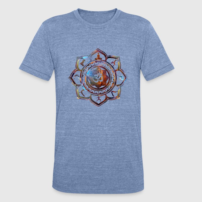 Om Lotus Yoga Poses T-Shirts - Unisex Tri-Blend T-Shirt by American Apparel