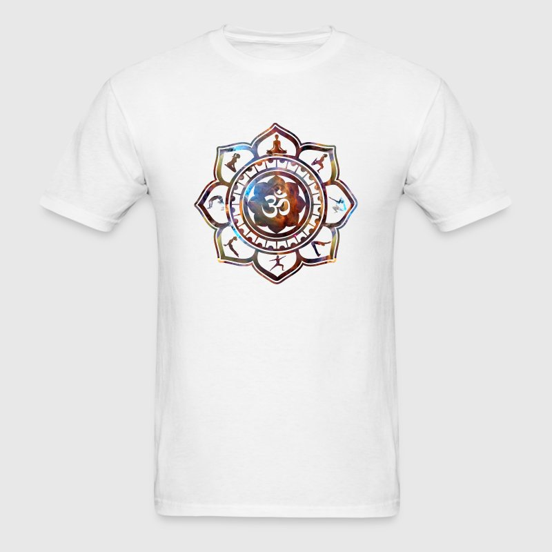 Om Lotus Yoga Poses T-Shirts - Men's T-Shirt