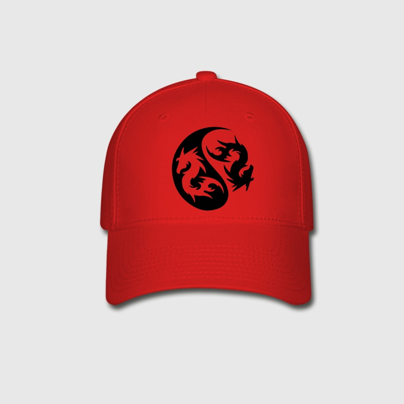 darr dragon yinyang Caps - Baseball Cap