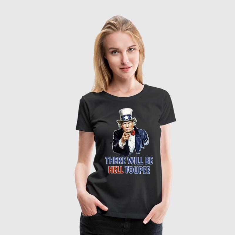 Donald Trump Uncle Sam Women's T-Shirts - Women's Premium T-Shirt