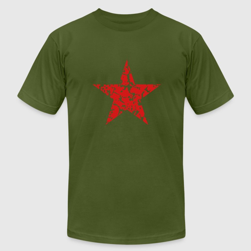 Red Star Vintage T-Shirts - Men's T-Shirt by American Apparel