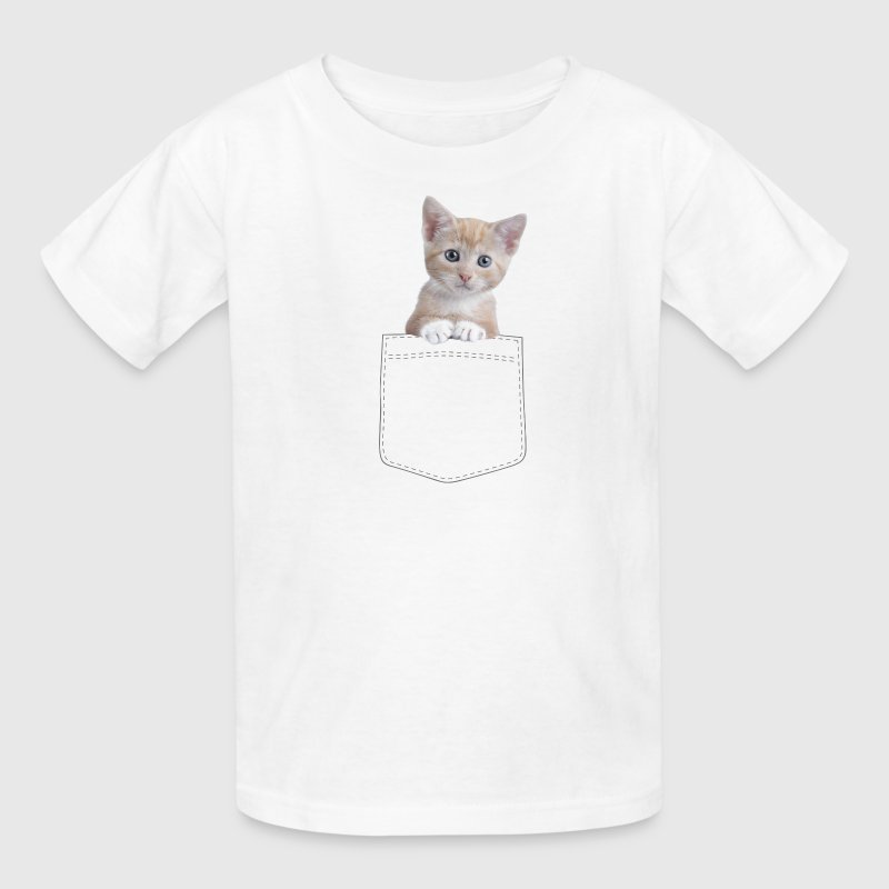 Cat pocket Kids' Shirts - Kids' T-Shirt