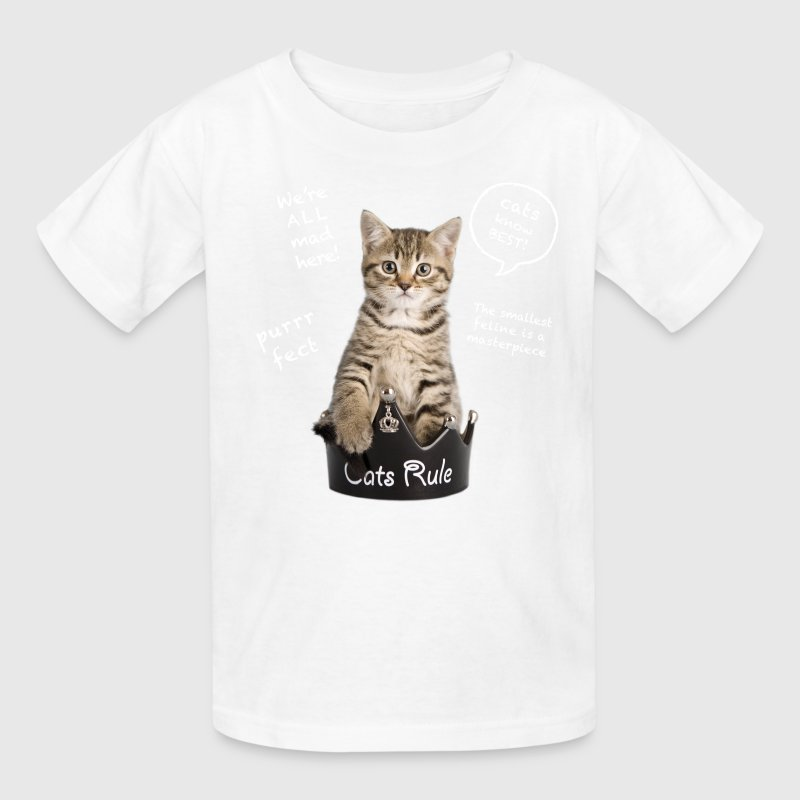 Cats Rule Kids' Shirts - Kids' T-Shirt