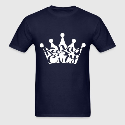 navy blue KC crown - Men's T-Shirt