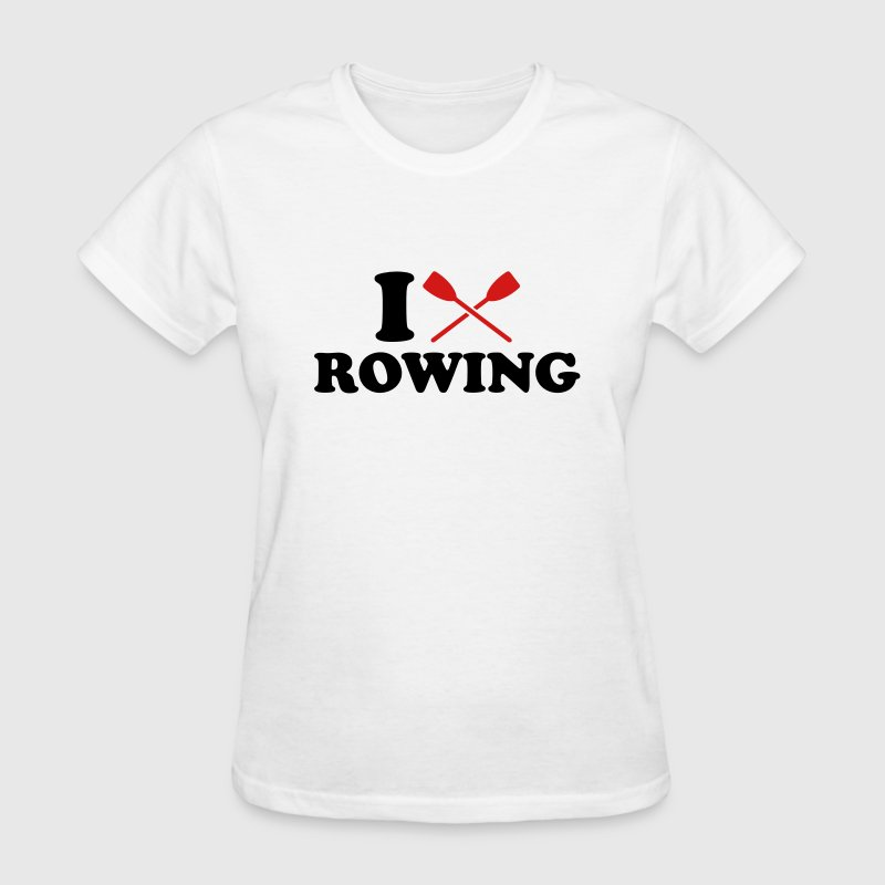 I love Rowing Women's T-Shirts - Women's T-Shirt