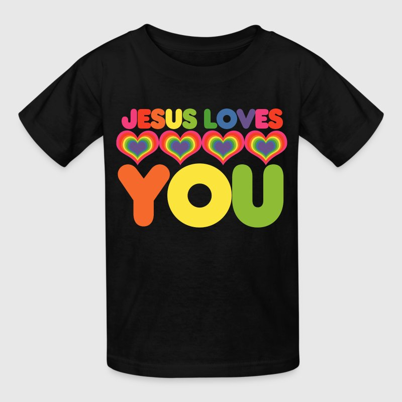 Jesus Loves You T Shirt Spreadshirt