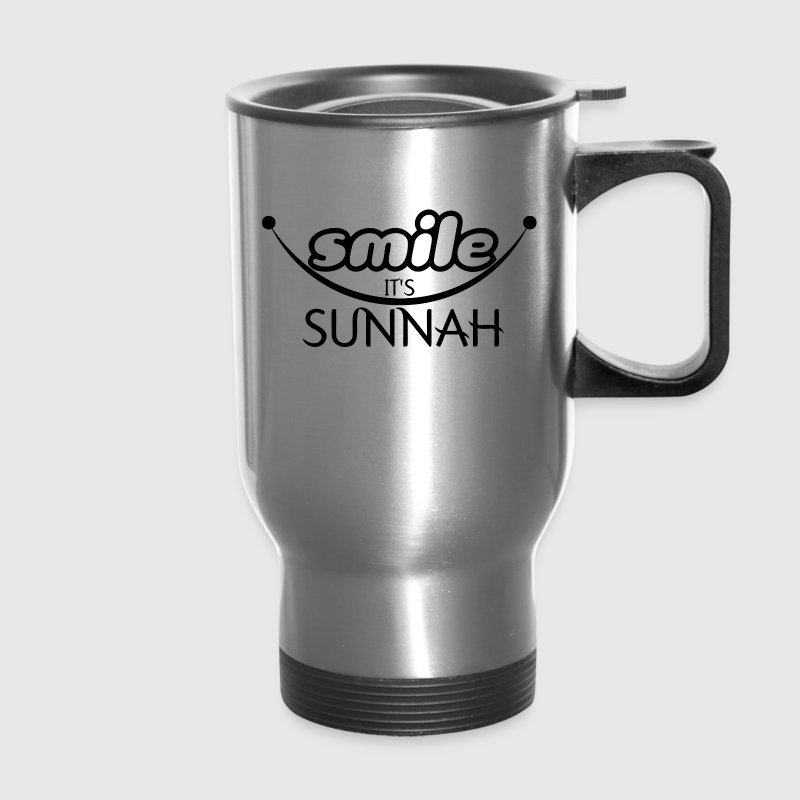 smile it's sunnah Mugs & Drinkware - Travel Mug