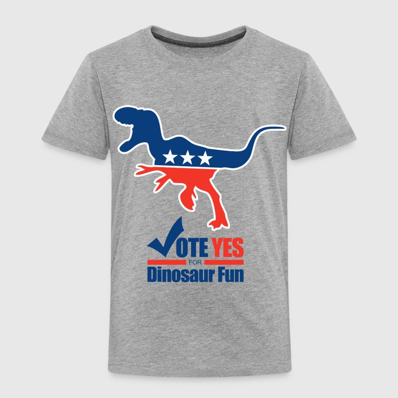 Vote yes for Dinosaur Fun political humor - Toddler Premium T-Shirt
