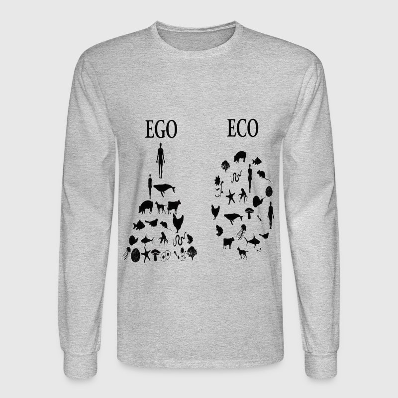 animal rights ego vs eco Long Sleeve Shirts - Men's Long Sleeve T-Shirt