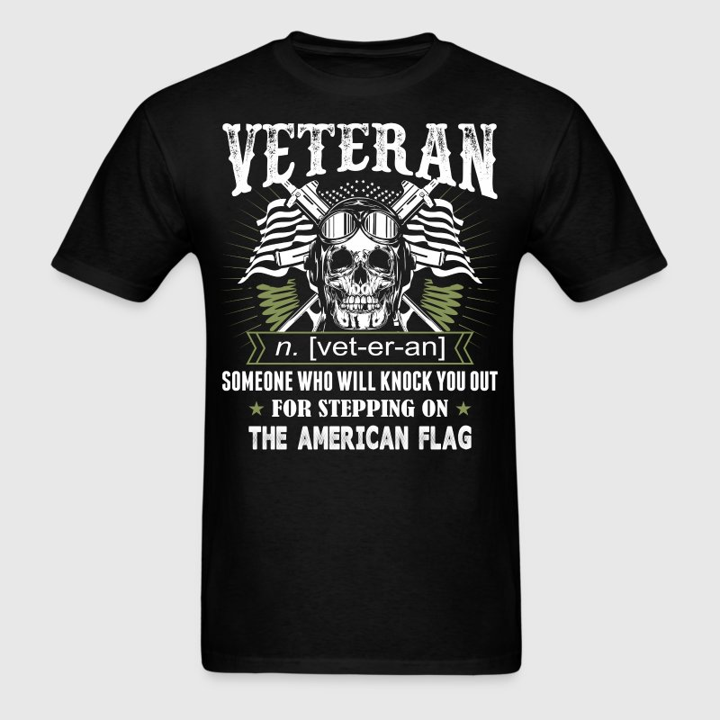Veteran The American Flag - Men's T-Shirt