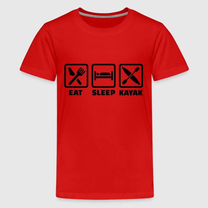 Eat Sleep Kayak Kids' Shirts - Kids' Premium T-Shirt