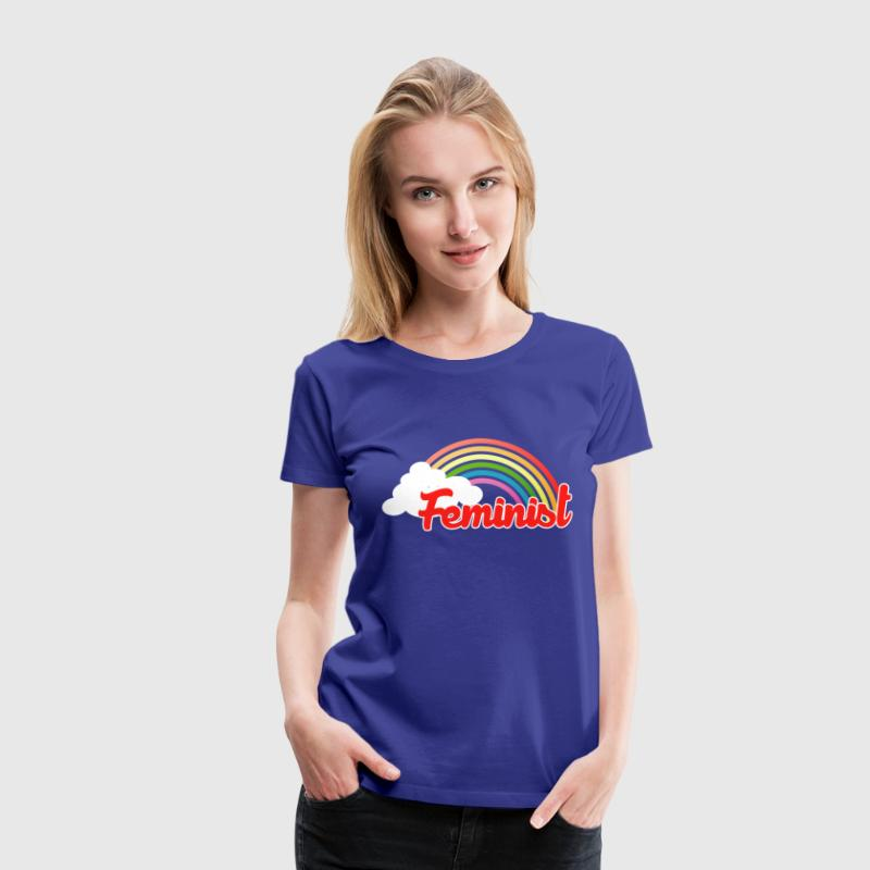 Retro Feminist rainbow - Women's Premium T-Shirt