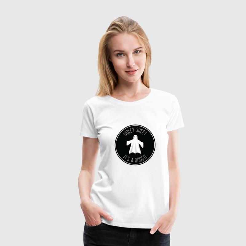 Holey Sheet It's A Ghost Women's T-Shirts - Women's Premium T-Shirt