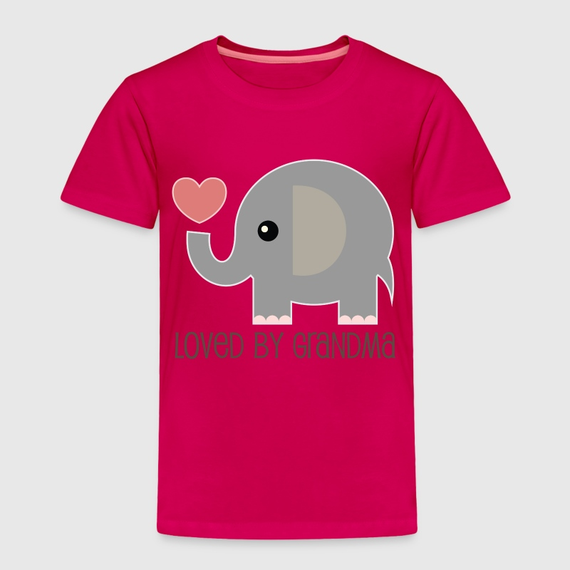 Loved By My Grandma baby elphant Baby & Toddler Shirts - Toddler Premium T-Shirt