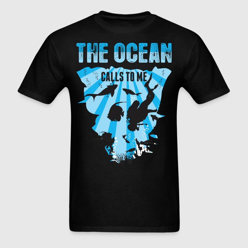 The Ocean Calls To Me - Men's T-Shirt