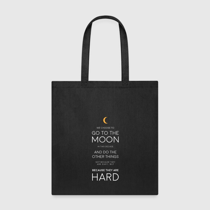 JFK Moon Quote Bags & backpacks - Tote Bag