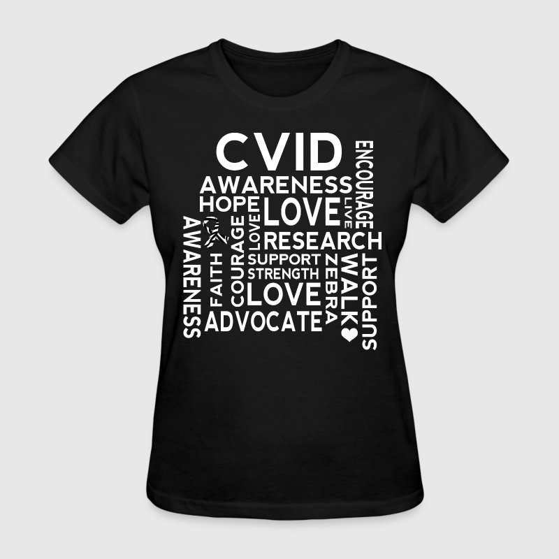 CVID Zebra Ribbon Awareness Women's T-Shirts - Women's T-Shirt