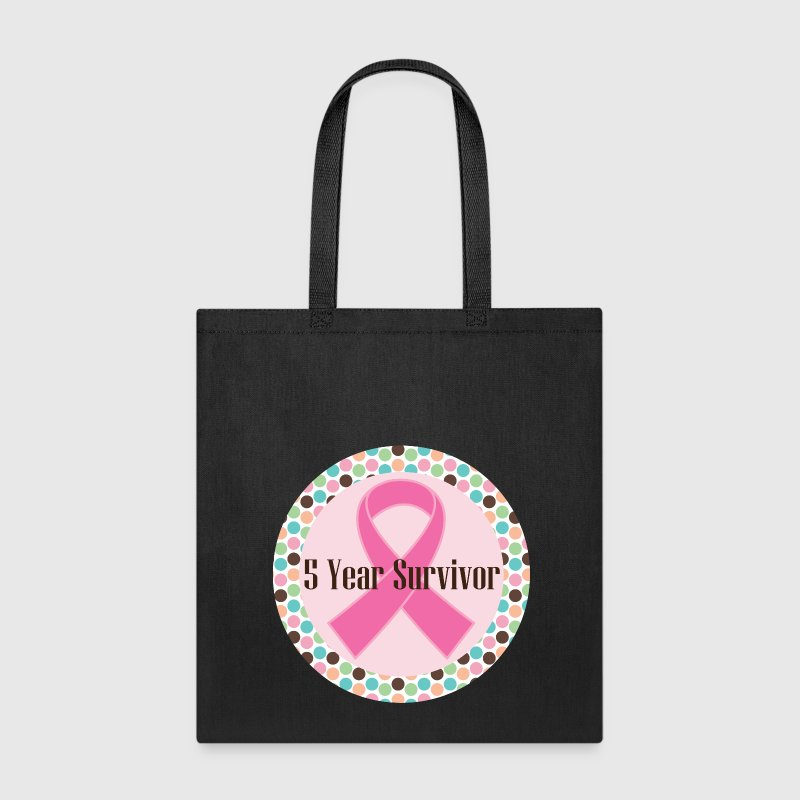 Breast Cancer 5 Year Survivor Bags & backpacks - Tote Bag