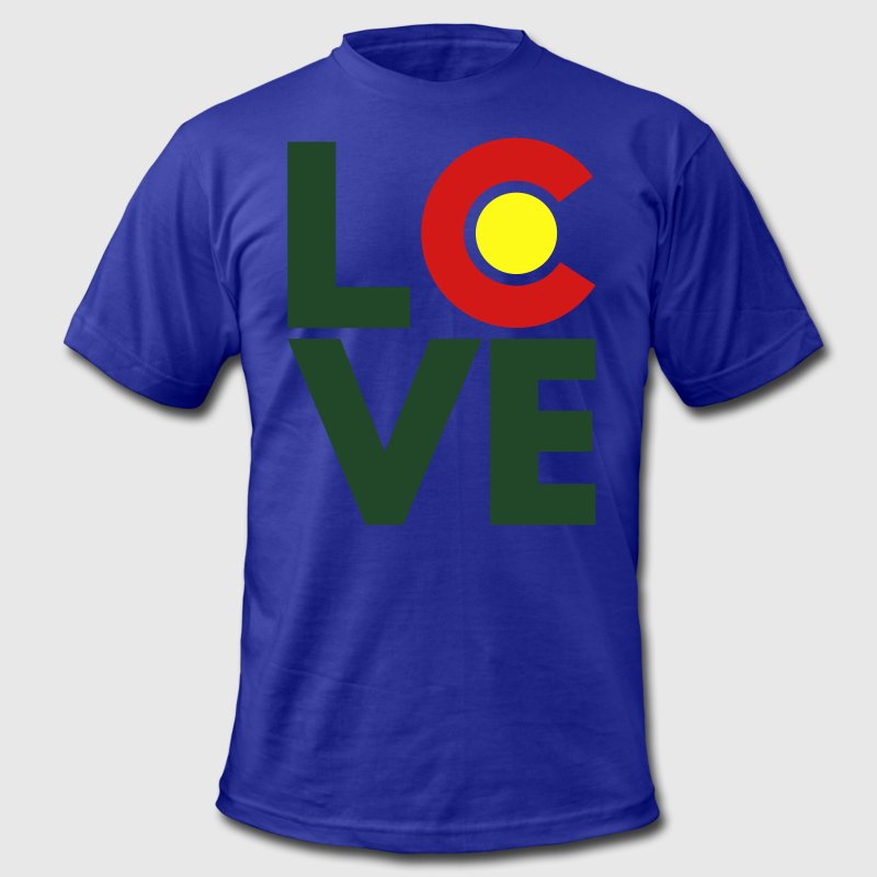 Colorado Love Women's T-Shirts - Men's T-Shirt by American Apparel