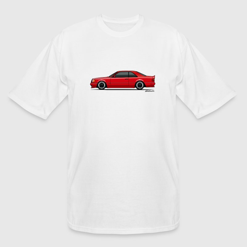 Mercedes W124 300CE AMG Red T-Shirts - Men's Tall T-Shirt