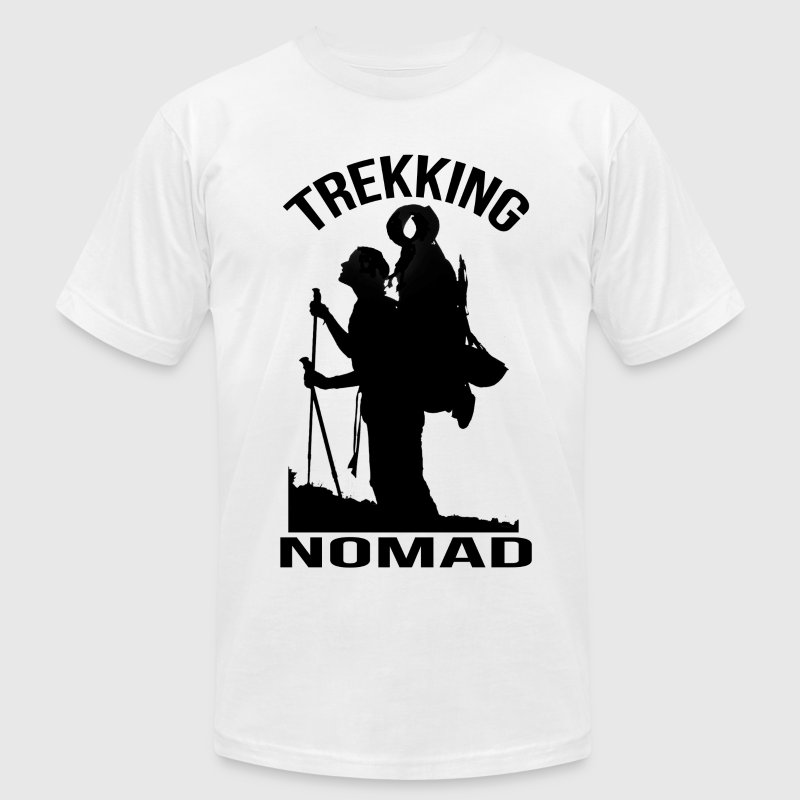 Trekking Nomad T-Shirts - Men's T-Shirt by American Apparel