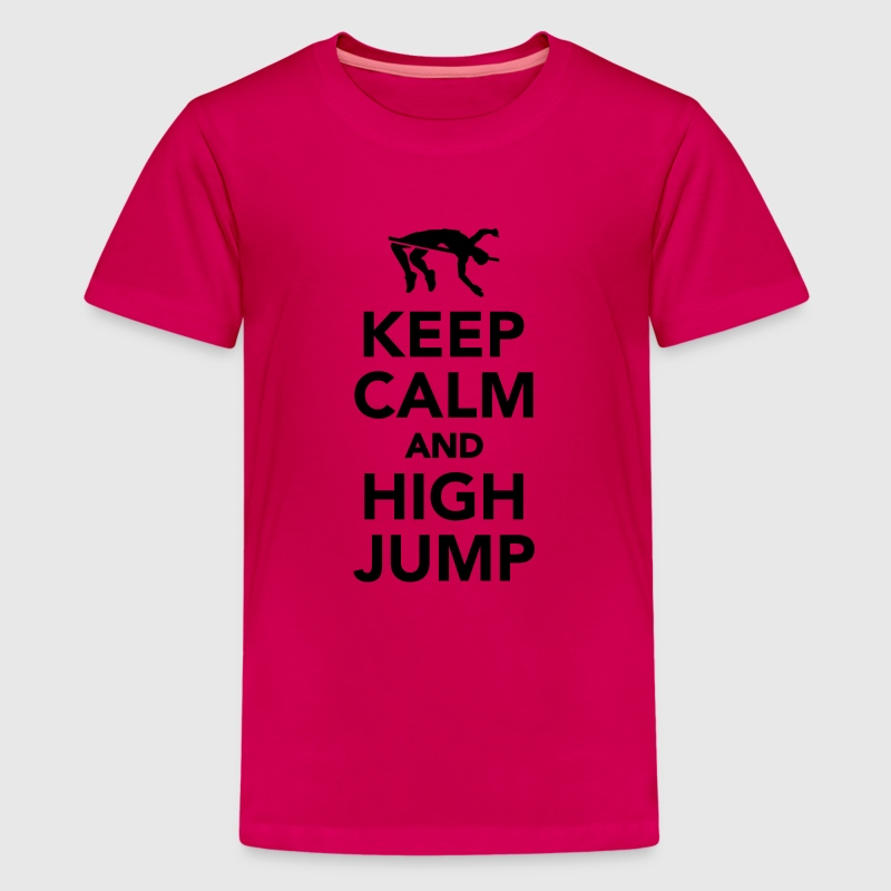 Keep calm and high jump Kids' Shirts - Kids' Premium T-Shirt
