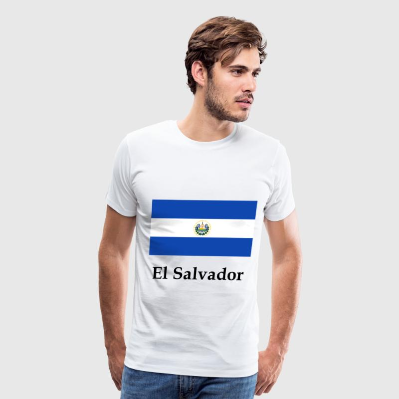 El Salvador Flag And Name - Men's Premium T-Shirt