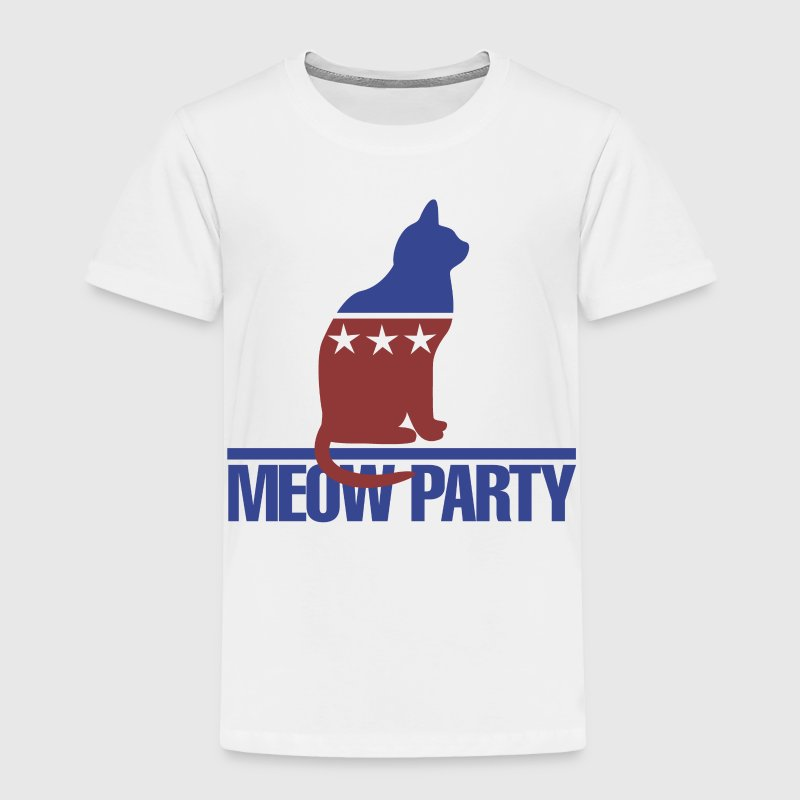 Meow kitty cat politics election 2016 - Toddler Premium T-Shirt