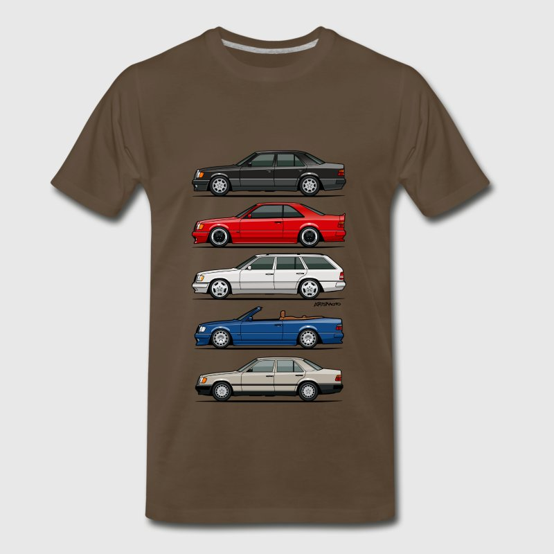 Stack of Mercedes W124 E-Class T-Shirts - Men's Premium T-Shirt