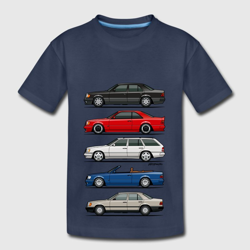 Stack of Mercedes W124 E-Class Kids' Shirts - Kids' Premium T-Shirt