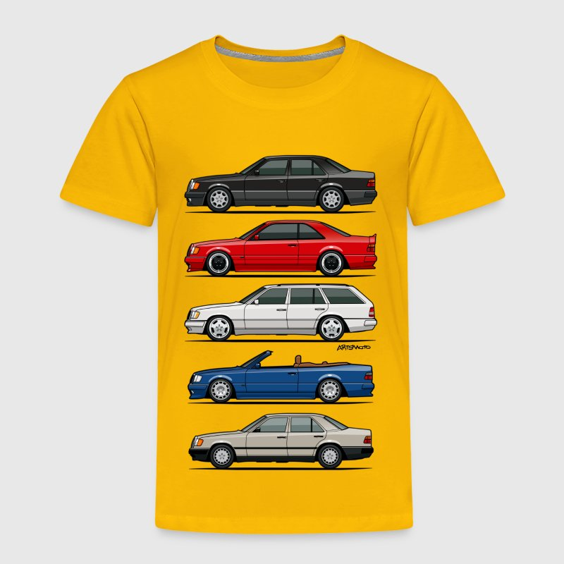 Stack of Mercedes W124 E-Class Baby & Toddler Shirts - Toddler Premium T-Shirt