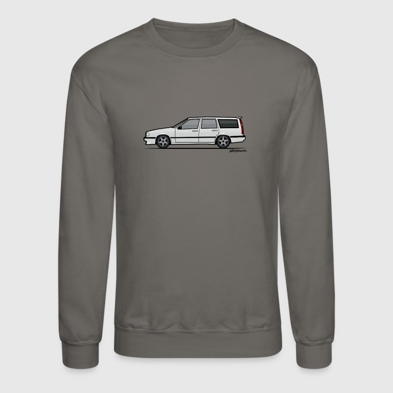 Volvo V70 T5 Wagon White Long Sleeve Shirts - Crewneck Sweatshirt