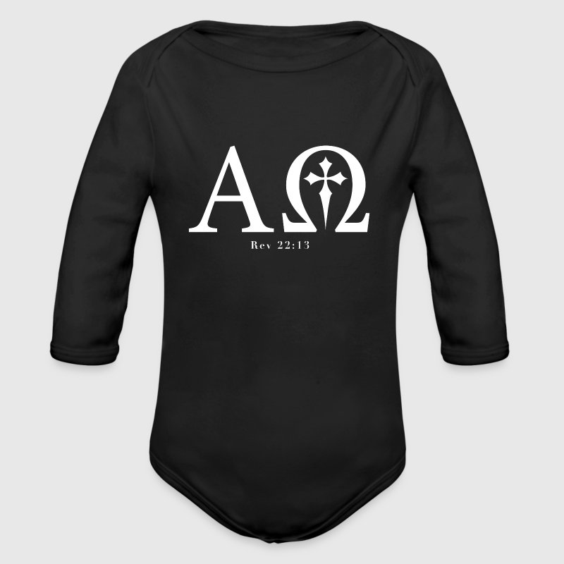 Revelation 22:13 - Alpha & Omega - Baby Long Sleev - Long Sleeve Baby Bodysuit