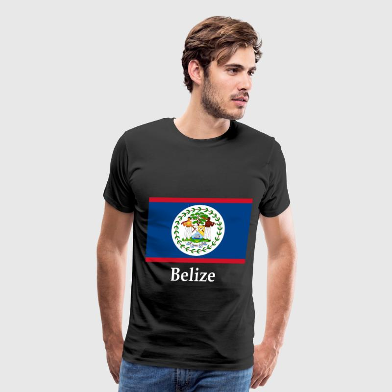 Belize Flag T-Shirts - Men's Premium T-Shirt