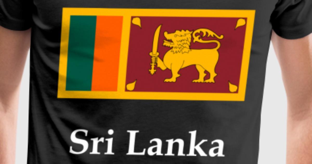 Sri lanka flag t shirt spreadshirt for Sri lanka flag coloring page