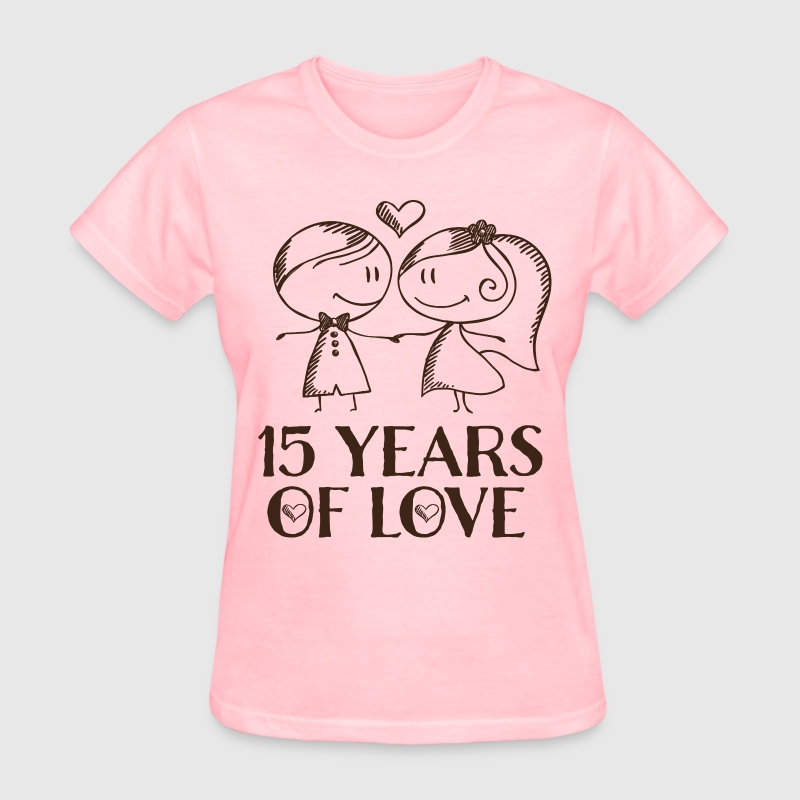 15th Anniversary Love Couple Women's T-Shirts - Women's T-Shirt