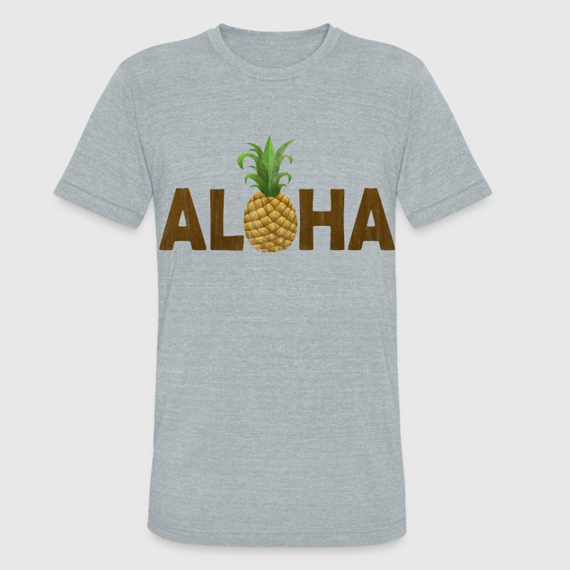 Aloha Pineapple Vintage Hawaiian T-Shirts - Unisex Tri-Blend T-Shirt by American Apparel