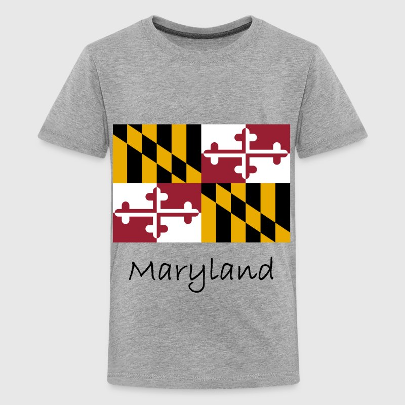Maryland Flag And Name  Kids' Shirts - Kids' Premium T-Shirt