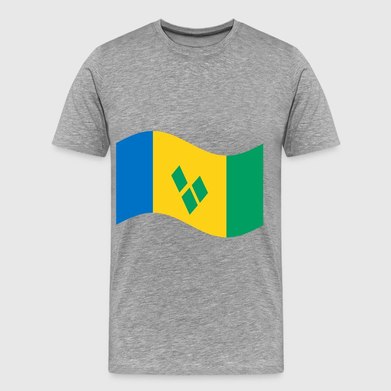 St Vincent And The Grenadines Flag T-Shirts - Men's Premium T-Shirt