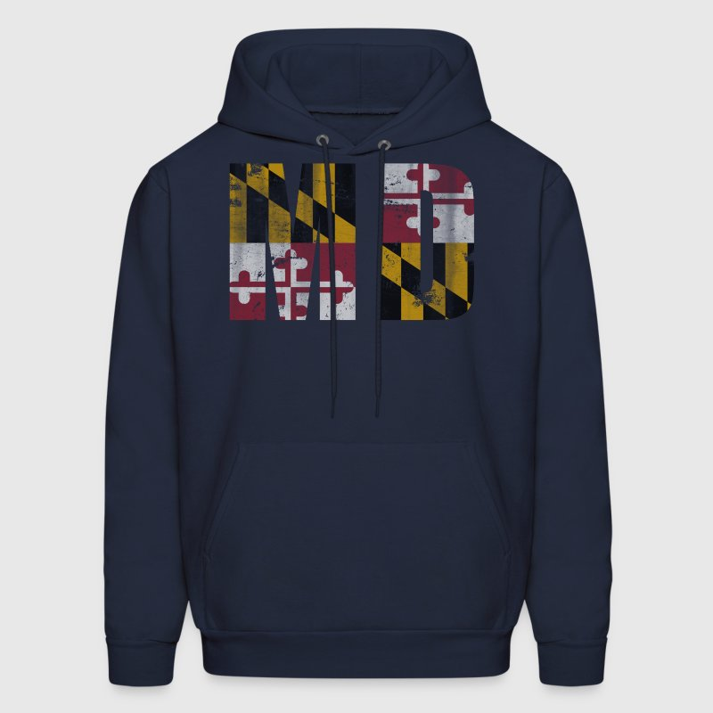 Vintage Maryland Flag MD Hoodies - Men's Hoodie