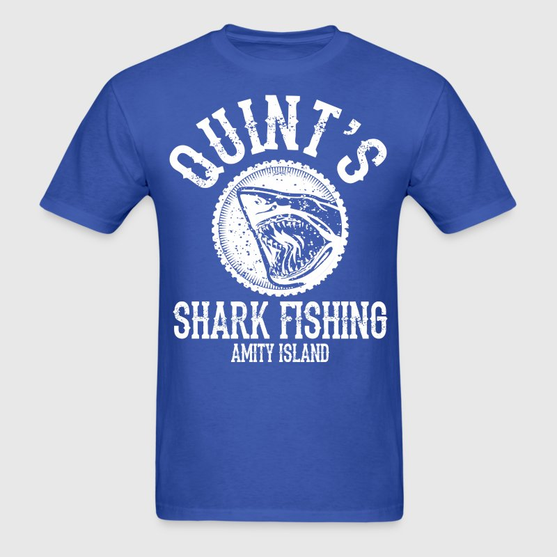 Quints Shark Fishing Amity Island - Men's T-Shirt