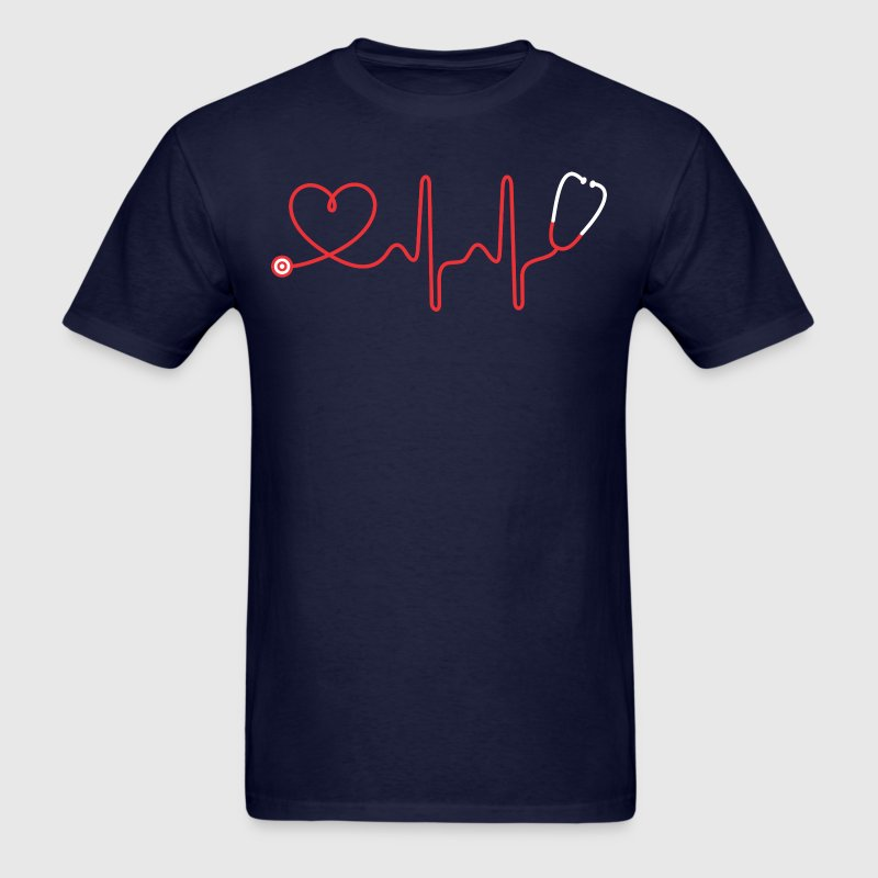 Stethoscope And Heart - Men's T-Shirt