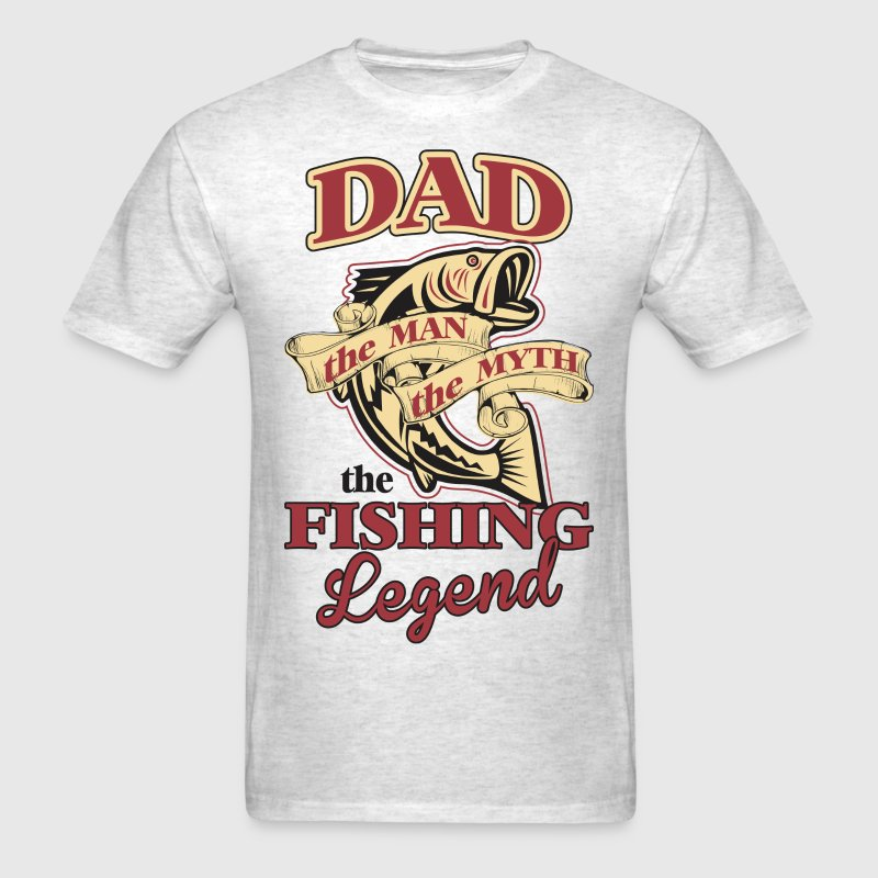 Dad The Man The Myth The Fishing Legend - Men's T-Shirt
